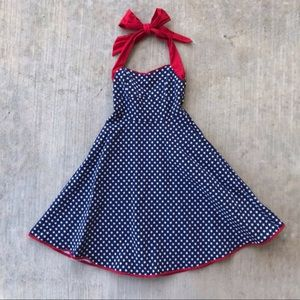 Lindy Bop Retro Americana Patriotic Swing Dress M